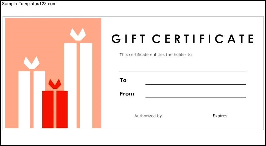 Create Your Own Gift Certificate Template Free