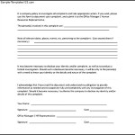 Example Of Employee Complaint Form