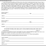 Example Of Health Care Power of Attorney Form