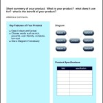 Example Product Sheet Template