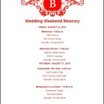 Example Wedding Itinerary Template Download