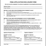 Example of FEMA Application Form