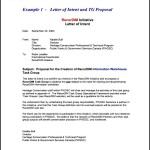 Example of Letter of Intent for Business Proposal PDF Printable