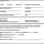 Example of Payroll Deduction Form