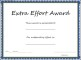 Extra Effort Award Template