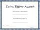 Extra Effort Award Template