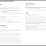 Fall-Down Accident Checklist Template