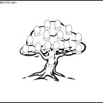 Family Tree Colouring Page for Kids Example