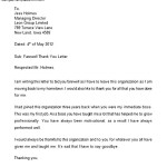Farewell Thank You Letter