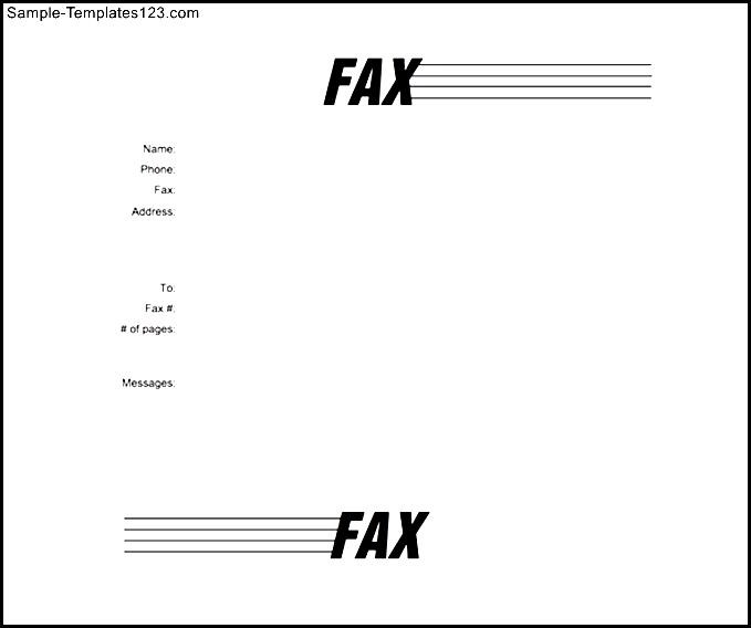 fax cover letter word format template free download