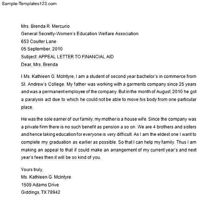 Financial aid appeal letter in family 28 images 11 how to financial aid appeal letter in family financial aid appeal letter template sle templates thecheapjerseys Choice Image