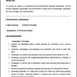 Financial Analyst ResumeTemplate Sample