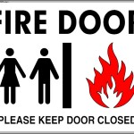 Fire Door Sign Template