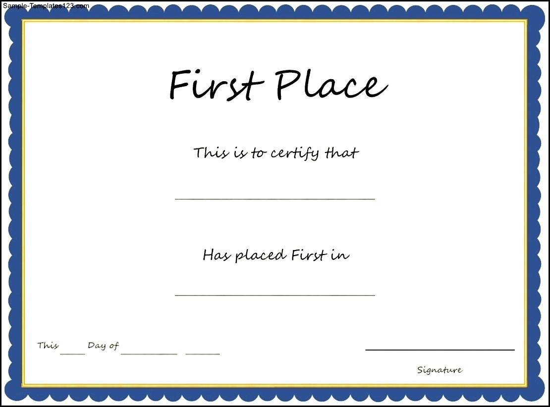1st place award certificate template 2003 2016 torrentz use our 1st first place award certificate templates to recognize a child for coming in first place in an event yelopaper Choice Image