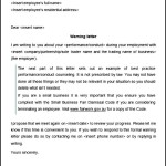 First Warning Letter Template
