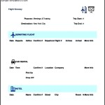 Flight Itinerary Template Excel