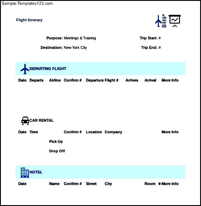 flight itinerary maker
