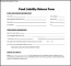 Food Liability Release Form