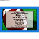 Football Party Personalized Invitations