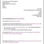 Formal Complaint Legal Letter Template PDF Format