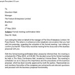 Formal Meeting Confirmation Letter