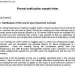 Formal Notice Letter