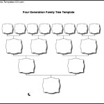 Four Generation Blank Family Tree Template