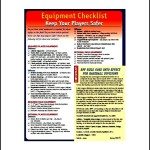 Free Baseball Equipment List Template