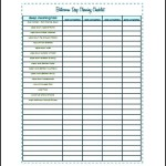 Free Bathroom Cleaning List Template