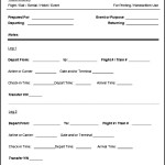 Free Blank Printable Cruise Itinerary Template