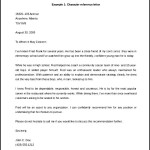 Free Character Reference Letter Template Example Word Doc