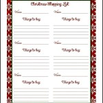 Free Christmas Shopping List PDF
