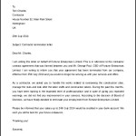 Free Contractor Termination Letter Template