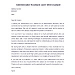 Free Download Administrative Assistant Cover Letter Example In Word