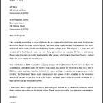 Free Download Athletic Sponsorship Letter Template