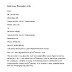 Free Download Early Lease Termination Letter
