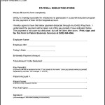 Free Download Payroll Deduction Form