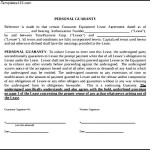 Free Download Personal Guarantee Form