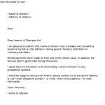 Free Download Tenant Reference Letter