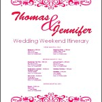 Free Download Wedding Itinerary Template