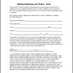 Free Downloadable Medical Waiver Form