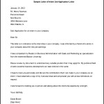 Free Letter of Intent Job Application Letter Download Word Format