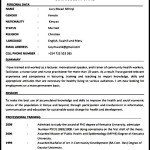 Free Nursing CV Template