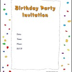 Free Online Party Invitation Template