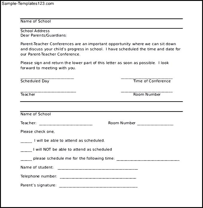 Parent conference letter template tiredriveeasy parent conference letter template spiritdancerdesigns Gallery