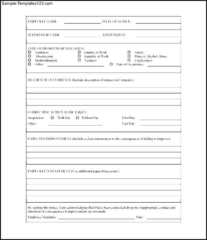 photo regarding Work Write Up Form Printable named Absolutely free Printable Staff Produce Up type - Pattern Templates