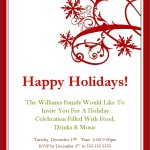 Free Printable Holiday Party Invitation Templates