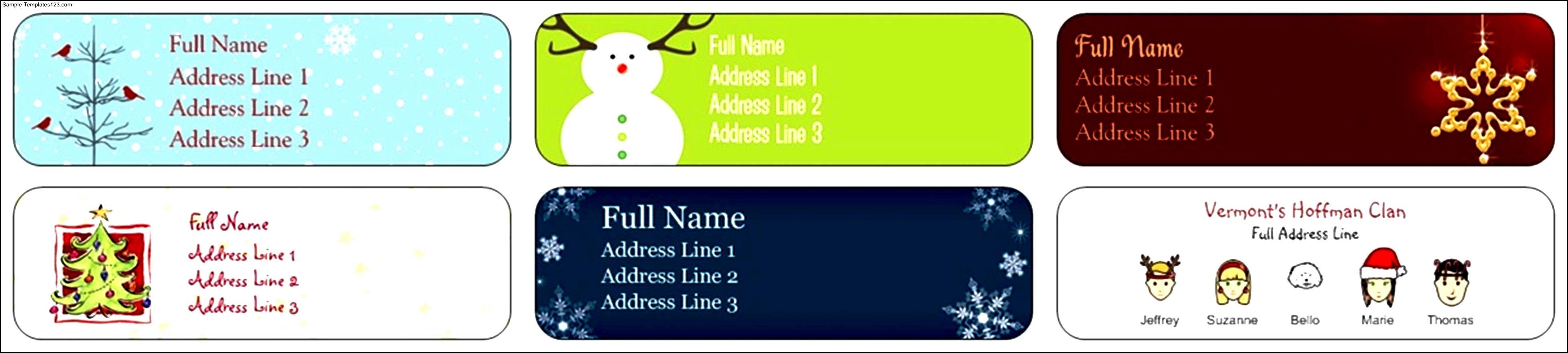 Free return address label template sample templates sample templates for Free return address label templates