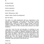 Free Sample Letter of Intent for Employment