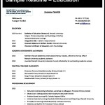 Free Teaching CV Template Sample
